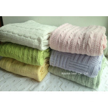 Soft Simple Knitting Blanket Throw Blanket Home