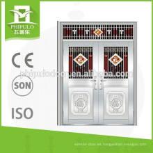 precio doble comercial caliente de puertas de acero inoxidable exterior marco compra a granel de china