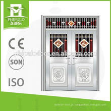 Preço duplo comercial quente de portas de aço inoxidável exterior moldura comprar a granel da china