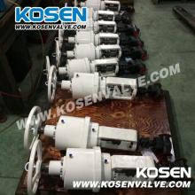 Atuador elétrico forjado válvulas globo de aço (j961h)