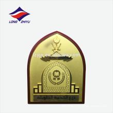 Desenho simbólico logo chapa de prova de escudo de madeira
