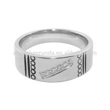 Großhandel Finger Ringe für Männer Edelstahl Schmuck mit Gravur Logo