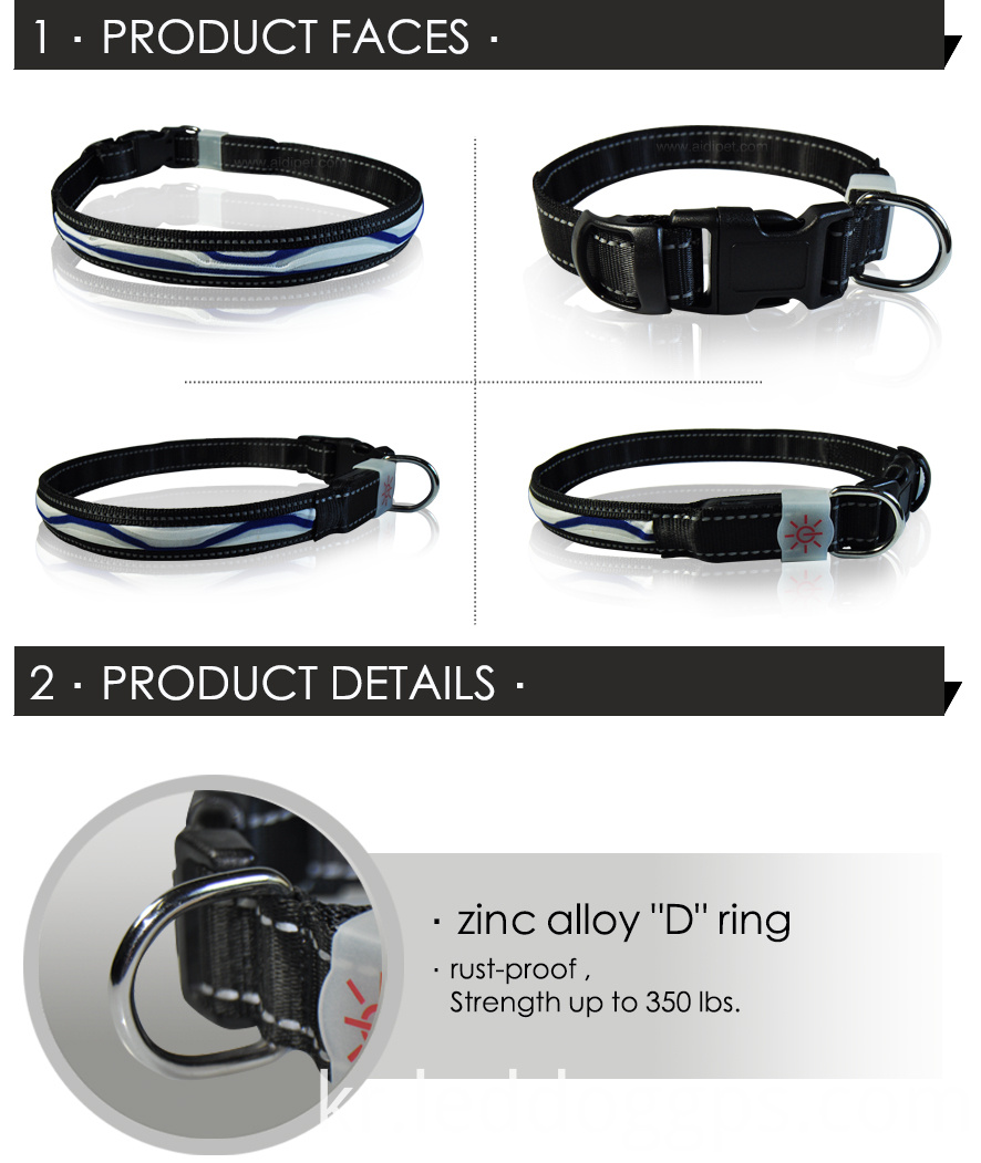 Adjustable Light Up Pet Collar