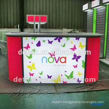 Cambered artificial marble Solid Surface Beauty reception desks used Cambered artificial marble Solid Surface Beauty reception desks used