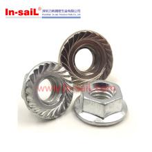 Porcas de bloqueio de flange hexagonal Allround Metal DIN1667