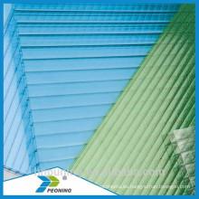 Precio al por mayor doble policarbonato flexible de la cubierta del invernadero de la pared el precio bajo