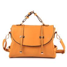 Orange Vintage Cross Shoulder Handbags Double Arrows With Long Strap
