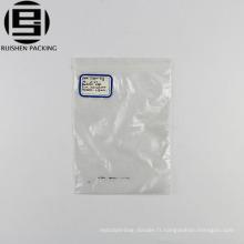 Petit sac en plastique d'emballage de serrure de zip de pe transparent de taille