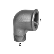 Galvanized female-male cast iron  thread elbow
