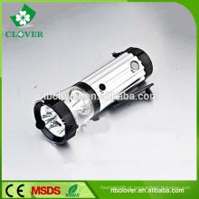 Super brilho 3 + 4 + 2 leds mão de alta potência recarregável lanterna led