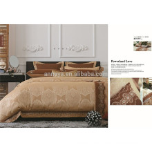 Poly-cotton Embroidery Design Jacquard Bed Sheet Set Bedding Set 6PCS