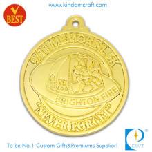 Китай подгонял цене фабрики Плакировкой золота 3D медаль сувенира сплава Satmping