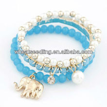 Sweet Summer mulitlayer Bangle With Elephant Charms10072566
