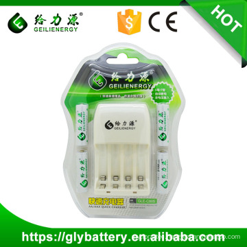 Geilienergy NI-CD NI-NM AA AAA 2.4V LED Battery Charger