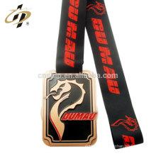 Personnaliser les médailles de sport en métal Janpan JuJitsu avec ruban