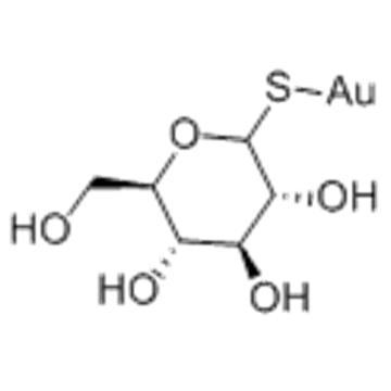 Gold, [1-(thio-kS)-D-glucopyranosato-kO2]- CAS 12192-57-3