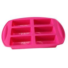 6 rectangle shape silicone cake mold, cake styling tools, food grade siliconeNew