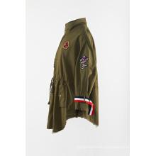 Green cotton loose dust jacket