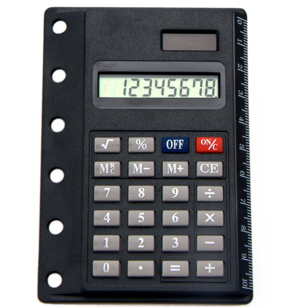 Mini Super Thin Solar Pocket Calculator with Ruler Card