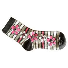 Frauen Mode Plain Socken mit Baumwolle und Spandex (wfc-02)