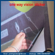Pelekat Kaca Wajah Vinyl One Way Perforated