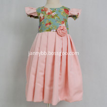 Boutique Pink Satin Floral Baby Girl Dress