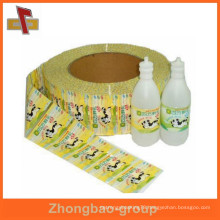 Hot sale ! waterproof printed shrinking bottle custom label sleeve for packing