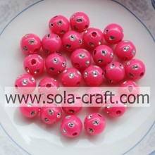Wholesale Rose Color Plastic Disco Dot Beads With A Hole 5MM