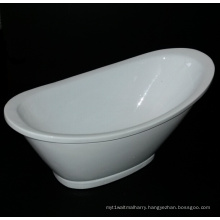 Oval Shape Pedestal Freestanding Bathtub