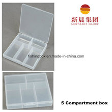 5 Compartment Small Clear Storage Box