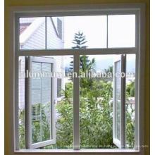 Ventana abatible de vidrio de aluminio