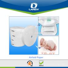 Materia prima del pañal del bebé Airlaid con SAP