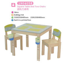 Square Table and Two Chairs Children Furniture Kids Furniture