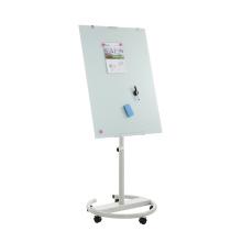 Tableau blanc mobile avec tableau de conférence mobile en verre trempé magnétique