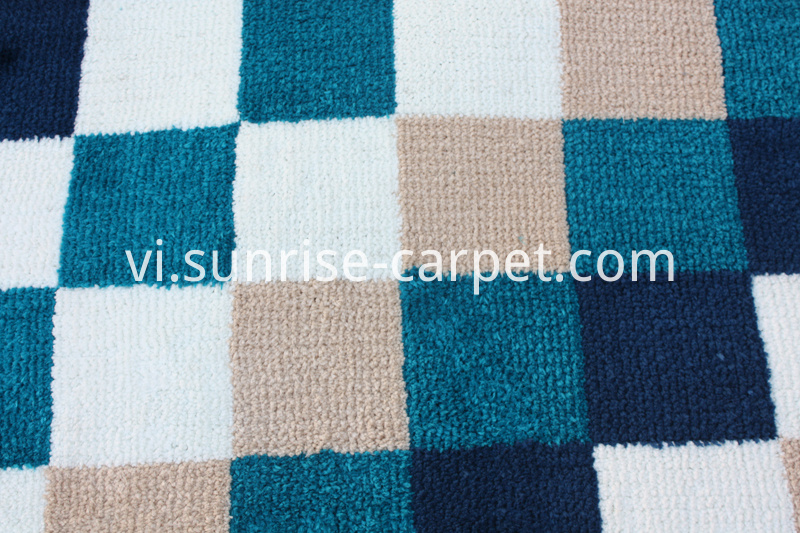 Microfiber Rug with Square Design
