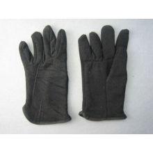 Lã de algodão preto Jersey Fleecy forrado de inverno-2107
