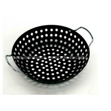 Double Handle BBQ Grill Wok with Plating Coating (SE-4456)