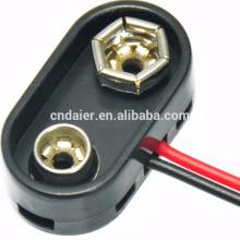 9V Hartplastik-Batterie-Snap mit Anschlusskabel und Stecker