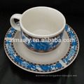 Porcelana xícara e pires, café / chá conjunto, 12pcs chá conjunto