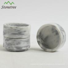 Bougeoir en marbre noir avec bougeoir en pierre