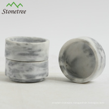Black marble candle jar stone candle holder