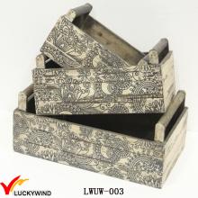 Neuer Entwurfs-Weinlese-Pflanzer-Blumen-Kasten-Holz-Kiste