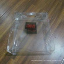 Sacs imperméables transparents simples de voyage de PVC de fermeture à glissière