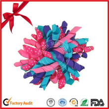Strip Fabric Mix Color Curling Bow con artesanía hecha a mano