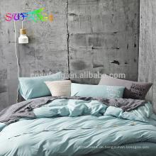 ISO9001 Zertifikat 500TC 100% Baumwolle Luxus Bettwäsche Set Blatt gesetzt
