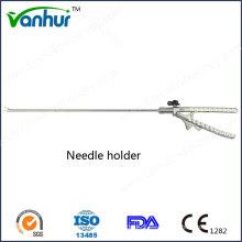 Instrumentos quirúrgicos Soporte de aguja curvado laparoscópico