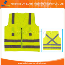 hot selling new design warning waistcoat yellow