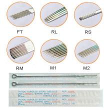 Alta qualidade e profissionais 316 L descartável estéril agulhas tatuagem