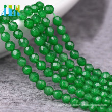 Cheap Jewelry Gemstone Bead, Faceted Round Natural Gemstone Beads