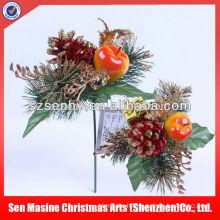 Wholesale felt flower glitter Christmas wreath decorations picks
